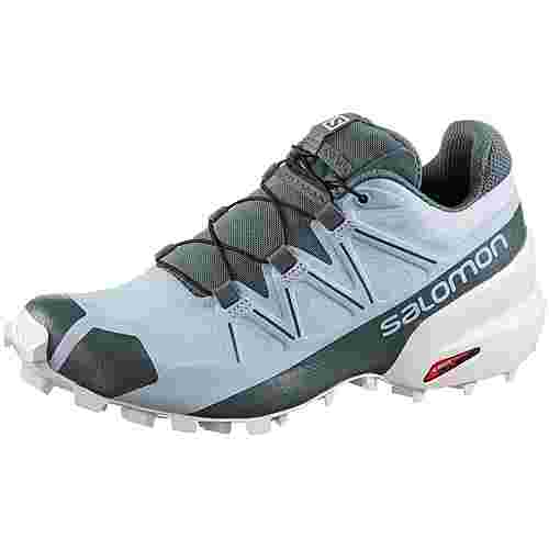 Salomon Speedcross 5 Trailrunning Schuhe Damen cashmere blue-white-stormy weather