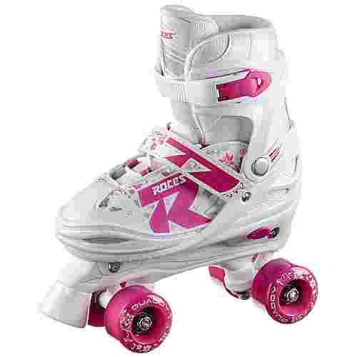 ROCES Quaddy Girl 2.0 Rollschuhe Kinder white-pink