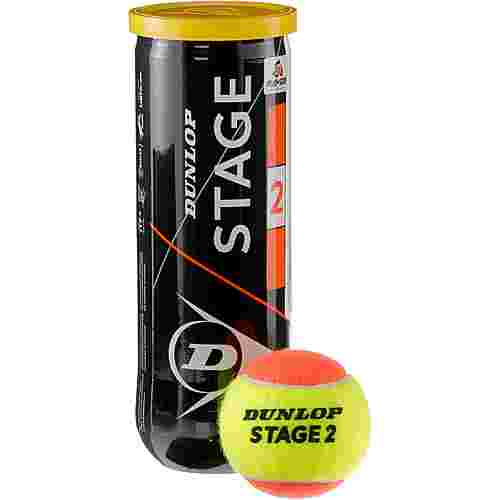Dunlop STAGE 2 ORANGE Tennisball Kinder gelb-orange