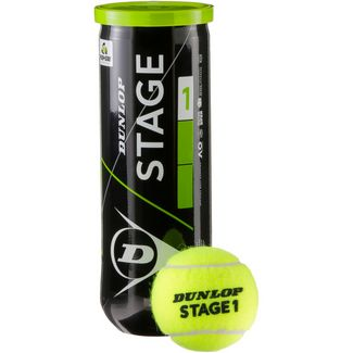 Dunlop STAGE 1 GREEN Tennisball Kinder gelb