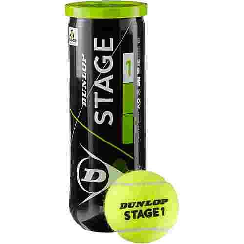 Dunlop STAGE 1 GREEN Tennisball Kinder gelb