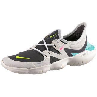 Nike Free RN 5.0 Laufschuhe Damen sail-volt-thunder grey-aurora green-pink blast