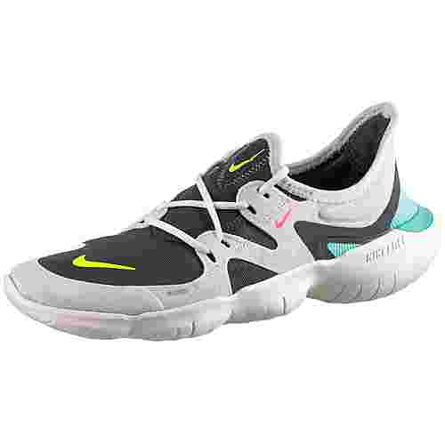 nike free rn 5 0 laufschuhe damen sail volt thunder grey. Black Bedroom Furniture Sets. Home Design Ideas