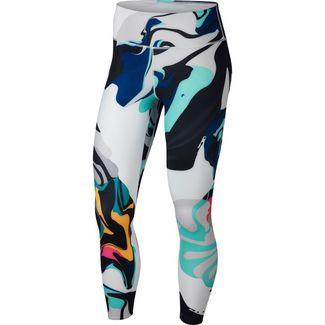 Nike Lauftights Damen tropical twist-white-black