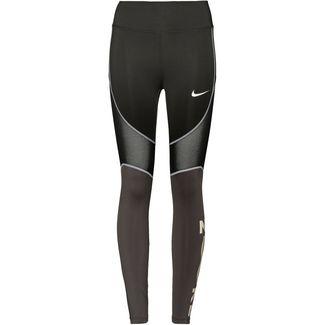 Nike Tights Damen black-thunder grey