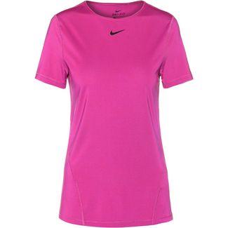 Nike Pro T-Shirt Damen laser fuchsia-black