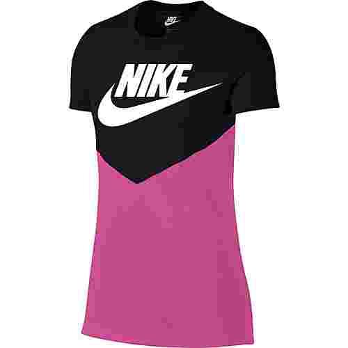 Nike NSW T-Shirt Damen black-active-fuchsia