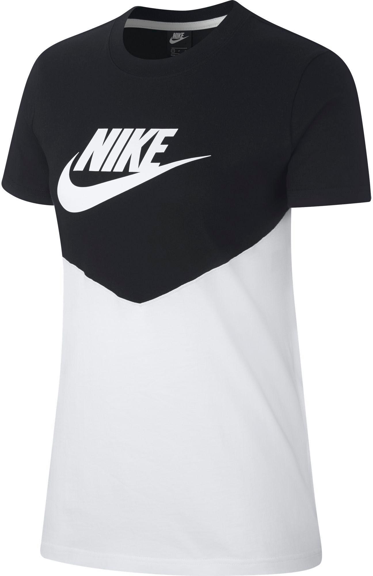 Nike NSW T-Shirt Damen black-white im Online Shop von SportScheck kaufen