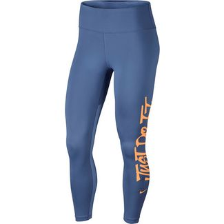 Nike Just Do It Tights Damen indigo storm-fuel orange