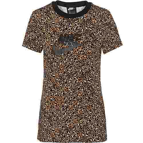 Nike NSW T-Shirt Damen desert ochre-black