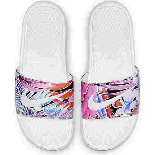 Nike Benassi JDI Sandalen Damen white-habanero-ember glow