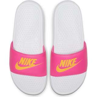 Nike Benassi JDI Sandalen Damen white-laser orange-laser fuchsia