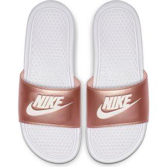 Nike Benassi JDI Sandalen Damen white-mtlc red bronze