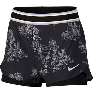 Nike W NKCT FLX PR Tennisshorts Damen black-oxygen purple