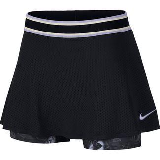 Nike W NKCT SKIRT ESS PR Tennisrock Damen black-oxygen purple