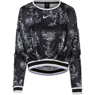 Nike W NKCT DRY LS PS NT Funktionsshirt Damen black-oxygen purple-oxygen purple