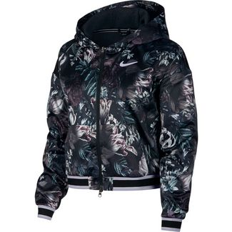 Nike W NKCT COVER UP Funktionsjacke Damen black-black-oxygen purple