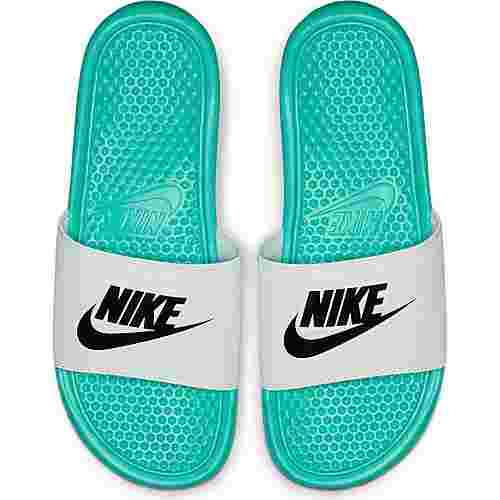 Nike Benassi JDI Badelatschen Herren hyper jade-black-white