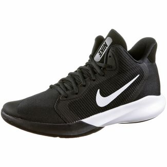 Nike Precision III Basketballschuhe Herren black-white