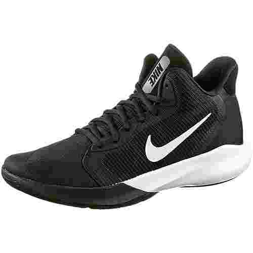 Nike Precision III Basketballschuhe Herren black-white
