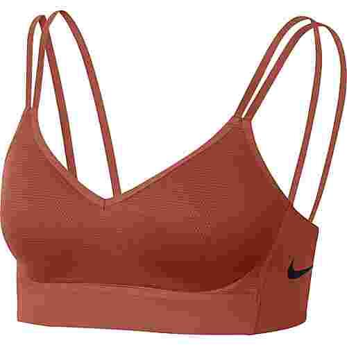 Nike Indy Breathe Sport-BH Damen dusty peach-black