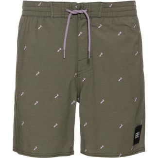 O'NEILL Strucktured Badeshorts Herren green aop-pink or purple