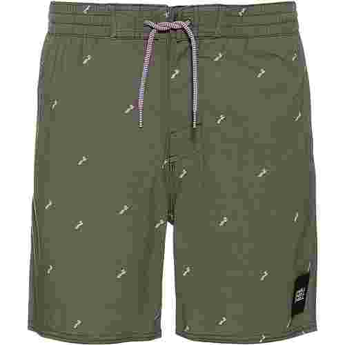 O'NEILL Strucktured Badeshorts Herren green aop-pink or purple