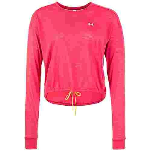 Under Armour Whisperlight Cropped Cover Up Langarmshirt Damen pink