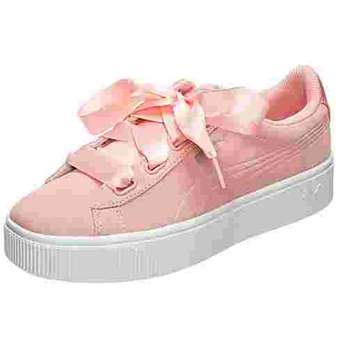 PUMA Vikky Stacked Ribbon Sneaker Damen apricot / weiß
