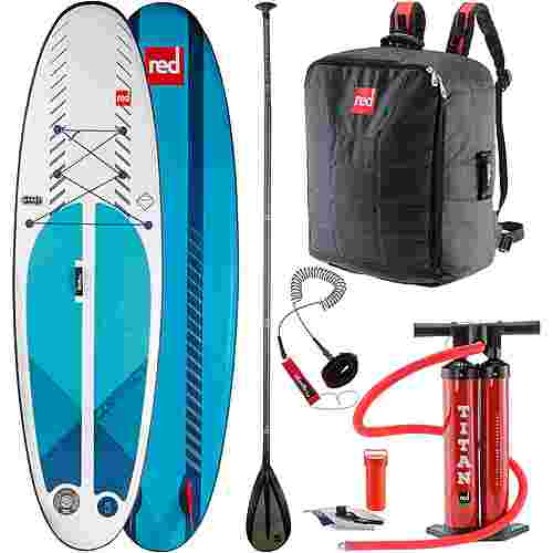 "Red Paddle COMPACT SET 9'6"" x 32"" x 4,7"" SUP Board weiß-dunkelblau"