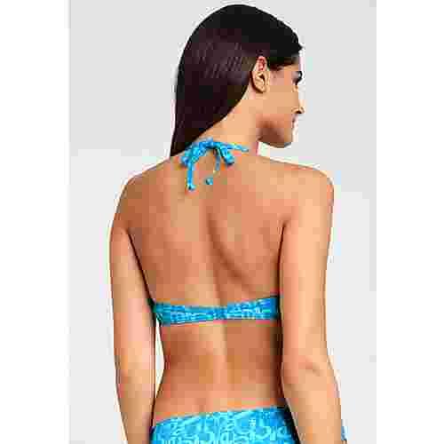 VENICE BEACH Bikini Oberteil Damen blau-bedruckt