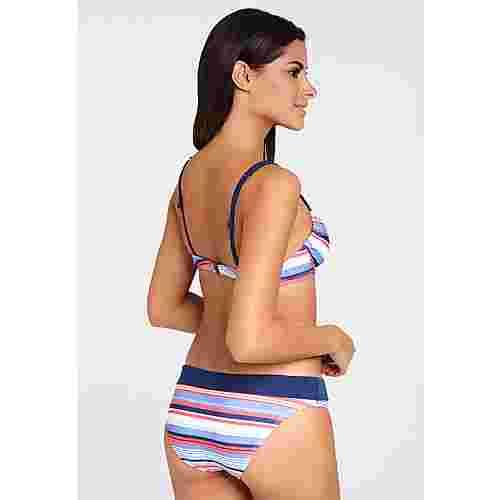 S.OLIVER Bikini Set Damen blau-rot-gestreift