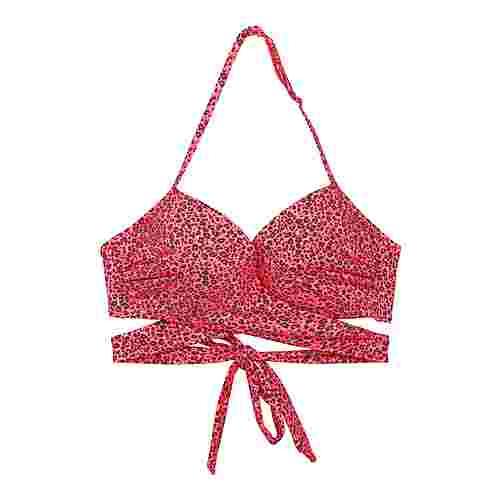 LingaDore Bikini Oberteil Damen rosa Tierdruck