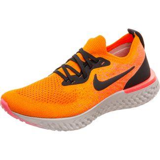 Nike Epic React Flyknit Laufschuhe Damen orange / schwarz