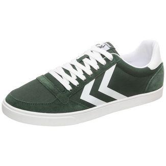 hummel Slimmer Stadil Mono Low Sneaker Herren dunkelgrün / weiß