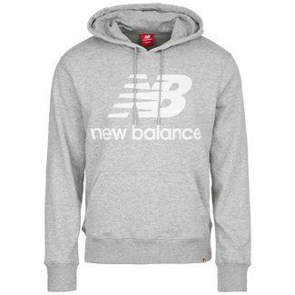 NEW BALANCE Essential Stacked Logo Hoodie Herren grau