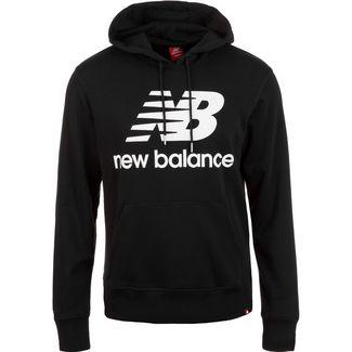 NEW BALANCE Essential Stacked Logo Hoodie Herren schwarz / weiß