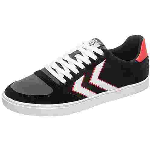 hummel Slimmer Stadil Low Sneaker Herren schwarz / weiß