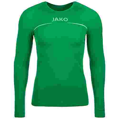 JAKO Comfort Langarmshirt Herren grün / weiß