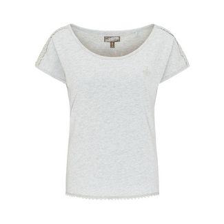 DreiMaster T-Shirt Damen hellgrau melange