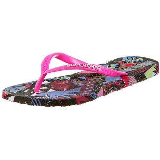 Superdry Super Sleek Zehensandalen Damen crazy tropical