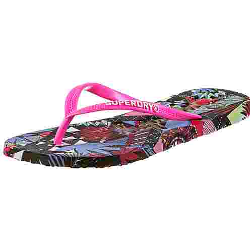 Superdry Super Sleek Zehentrenner Damen crazy tropical