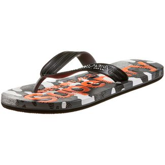 Superdry Zehensandalen Herren black/hazard orange/textured camo