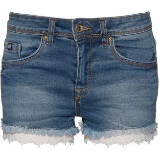 Superdry Denim Lace Hot Jeansshorts Damen pool blue lace