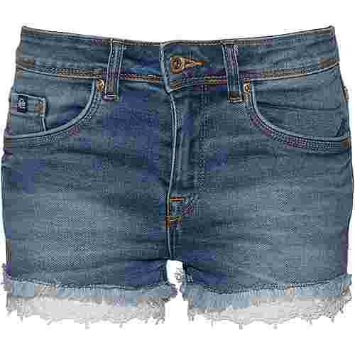 Superdry Denim Lace Hot Jeansshorts Damen pool blue lace