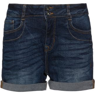 TOM TAILOR Cajsa Jeansshorts Damen dark stone wash denim