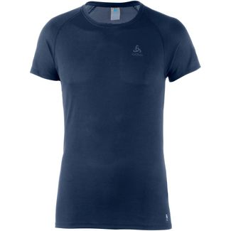Odlo Active F-Dry Light Funktionsshirt Herren diving navy