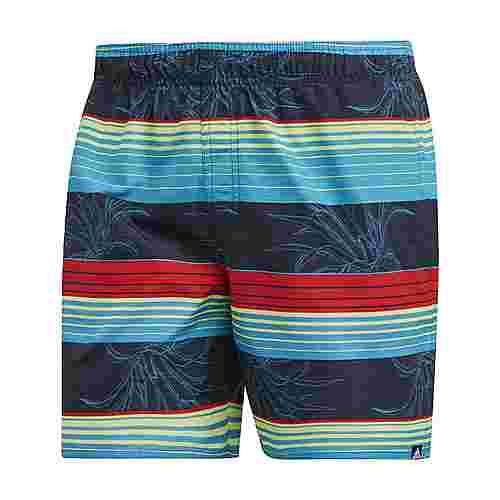 adidas Stripe Badeshorts Badeshorts Herren Legend Ink / Active Red