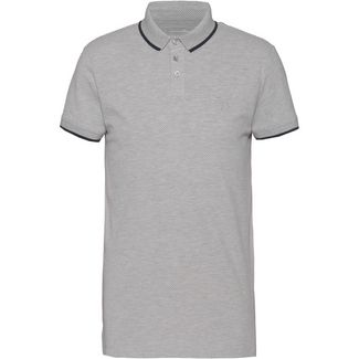 TOM TAILOR Poloshirt Herren grey dots print