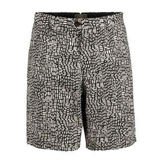 Khujo CLORT Shorts Herren schwarz gemustert